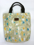 Assorted Bear Print Multipurpose Tote Handbag in Rusty Green Color - Best Price Company India