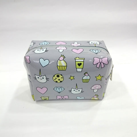 Cartoon Print Cosmetic/Travel Bag in Grey Color - BestP : Best Product at Best Price
