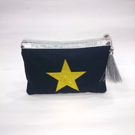 Yellow Star Cosmetic/Travel Pouch in Deep Blue Color - Best Price Company India