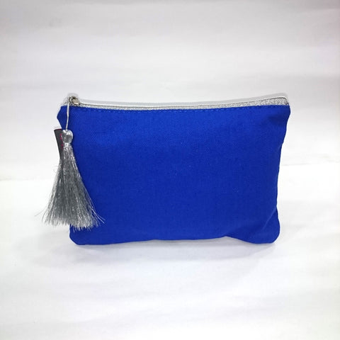 Solid Cosmetic/Travel Pouch in Blue Color - Best Price Company India
