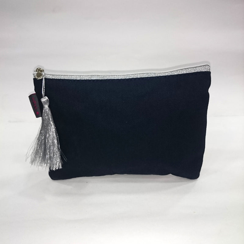Solid Cosmetic/Travel Pouch in Black Color - BestP : Best Product at Best Price