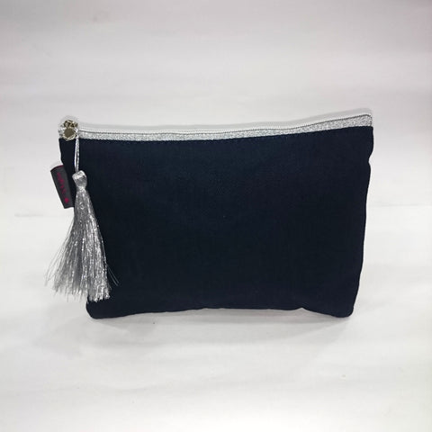 Solid Cosmetic/Travel Pouch in Black Color - Best Price Company India