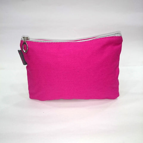 Solid Cosmetic/Travel Pouch in Pink Color - BestP : Best Product at Best Price