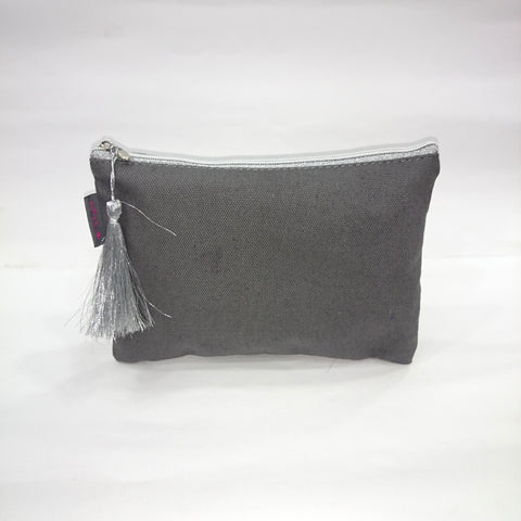 Solid Cosmetic/Travel Pouch in Grey Color - Best Price Company India