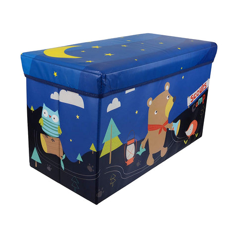 BestP Cartoon Print Folding Storage Box | Under Lid Storage with Padded Seat - BestP : Best Product at Best Price