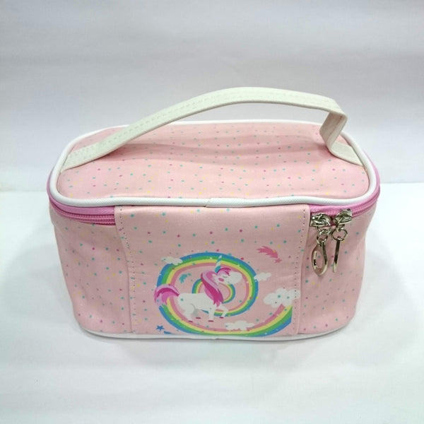Unicorn Rainbow Print Cosmetic/Travel Bag in Light Pink Color - BestP : Best Product at Best Price