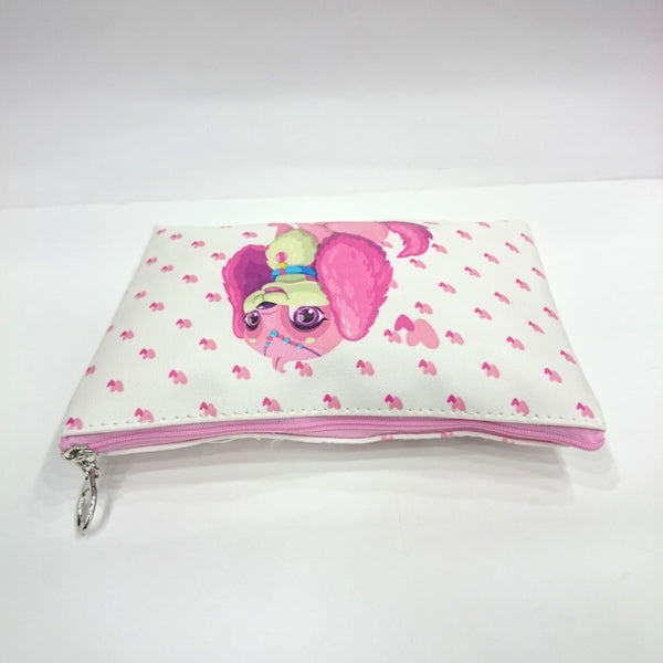 Cute Animal Print Cosmetic/Travel Pouch in White Color - Best Price Company India