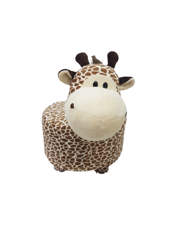 BestP Wooden Animal Stool for Kids (Giraffe) | with Removable Fabric Cover 20 CM