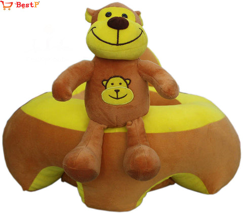 BestP Baby Monkey Seater (Brown & Yellow) - Best Price Company India