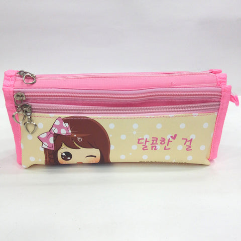 Hairband Girl Print Pen & Pencil Bag - Best Price Company India