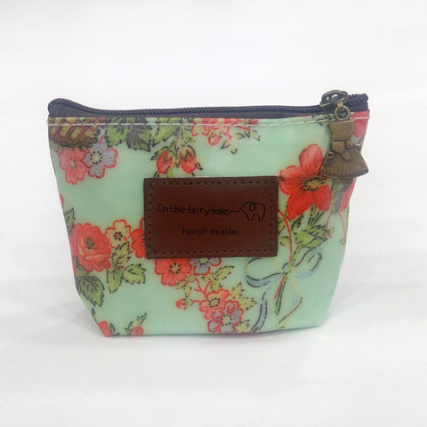 Flower Print Coin Pouch - BestP : Best Product at Best Price