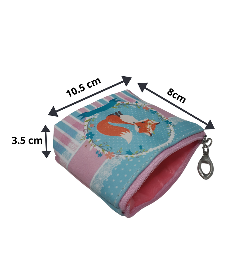 BestP Fashionable Coin Pouch for Women Man &Girls ( Blue ) Fox Character Coin Pouch 9 Pcs Set