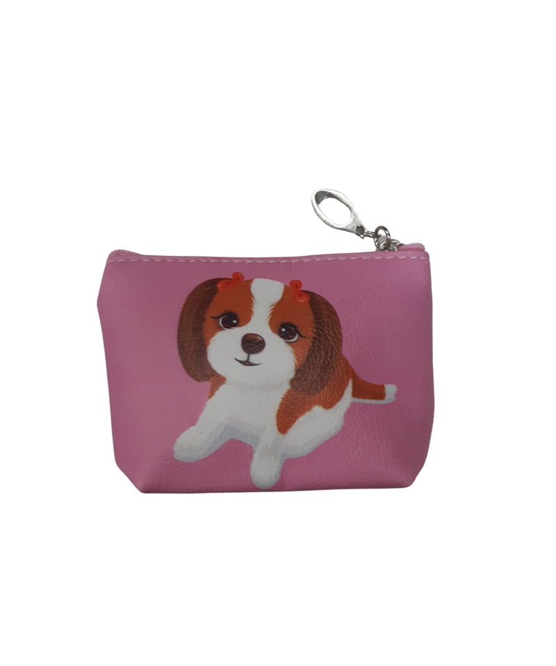 BestP Fashionable Coin Pouch for Women Man &Girls ( Pink ) Dog Character Coin Pouch 9 Pcs Set