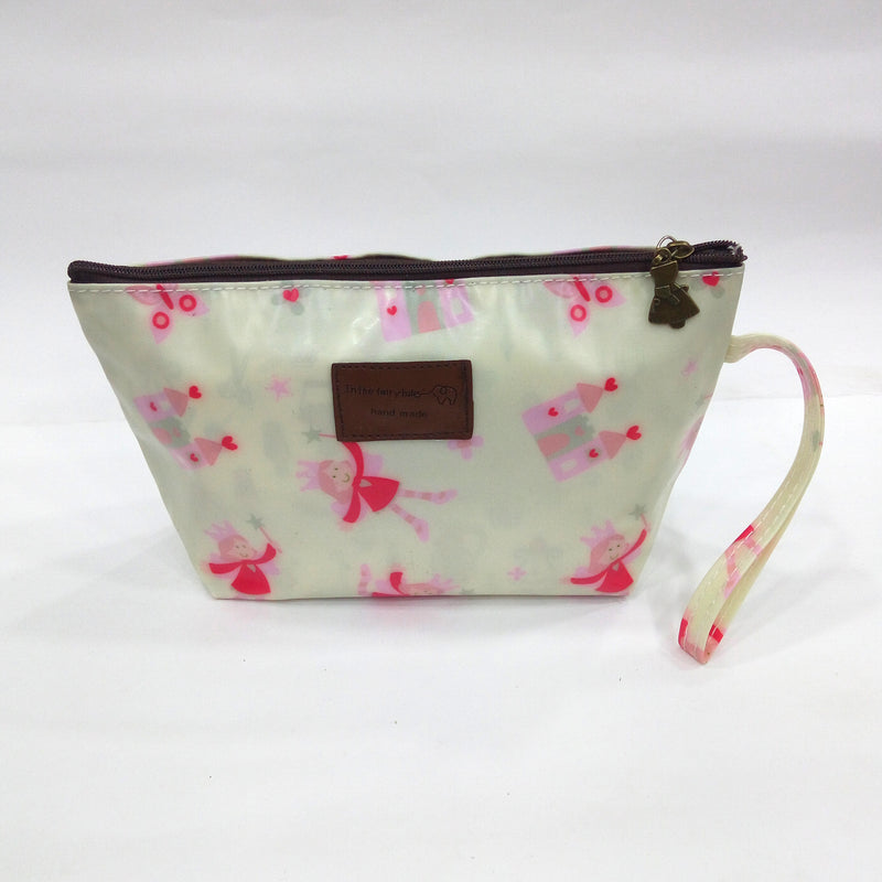 Little Princes Print Cosmetic & Travel Bag in Rusty Green Color | With Side Handle - BestP : Best Product at Best Price