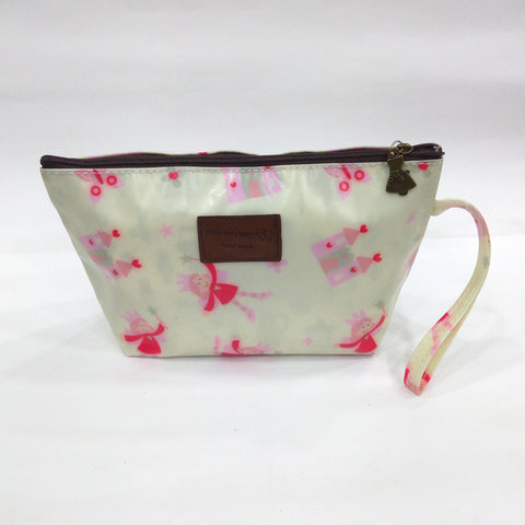 Little Princes Print Cosmetic & Travel Bag in Rusty Green Color | With Side Handle - Best Price Company India