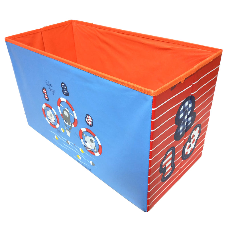 BestP Fisher Dogs Print Storage Box | Folding Storage Box | Under Lid Storage with Padded Seat - BestP : Best Product at Best Price