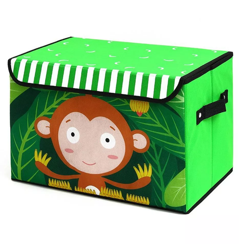 Monkey Print Folding Storage Box - Best Price Company India