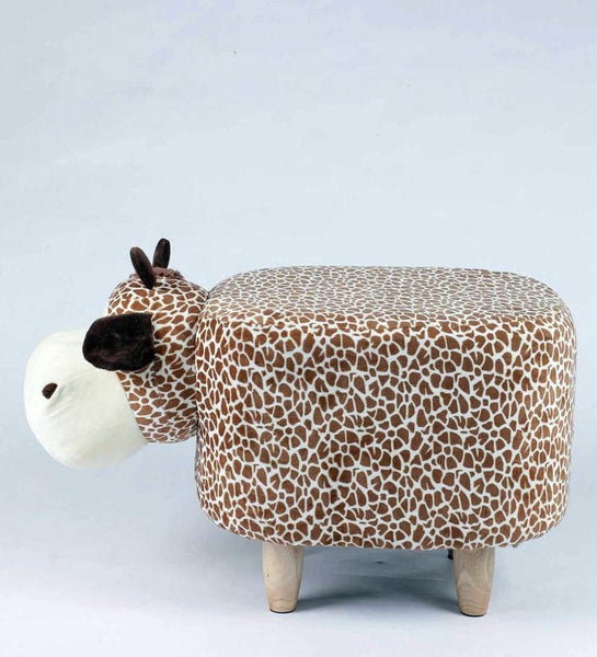 Wooden Animal Stool for Kids (Giraffe)| With Removable Soft Fabric Cover - Best Price Company India
