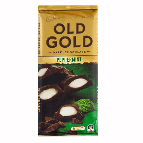 Photo of a Cadbury Old Gold Peppermint chocolate block - Candy Of Oz