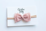 ROSE GOLD lace bow