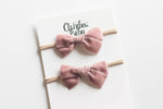 "3"" Velvet bow (ROSE MAUVE)"
