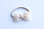 Natural ivory lace bow
