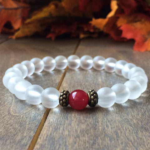 Crystal Clear Quartz Bracelet - UNLOCK YOUR CHAKRA