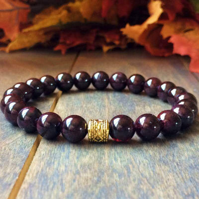 Red Garnet Bracelet - UNLOCK YOUR CHAKRA