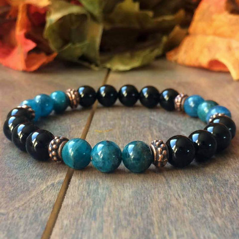 Apatite And Black Onyx Bracelet - UNLOCK YOUR CHAKRA
