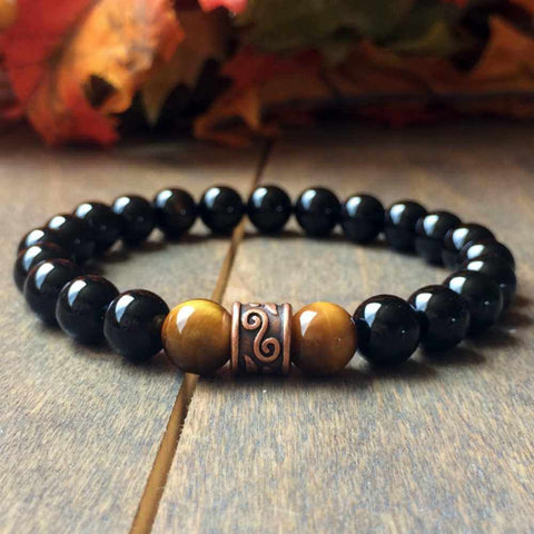 Protection | Stone Beaded Bracelet - UNLOCK YOUR CHAKRA