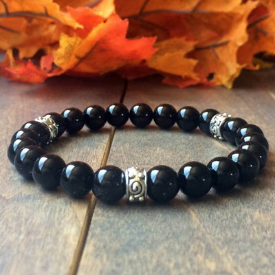 Black Tourmaline Bracelet - UNLOCK YOUR CHAKRA
