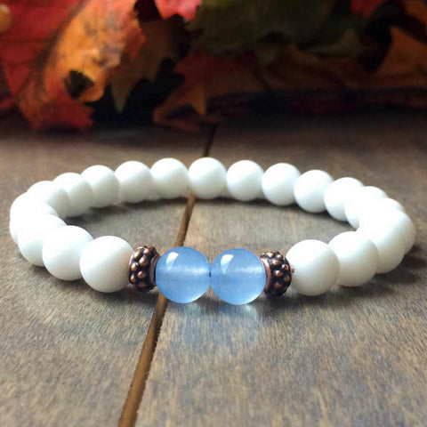 Blue Agate Anxiety Bracelet - UNLOCK YOUR CHAKRA