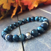 Blue Tiger's Eye Bracelet - UNLOCK YOUR CHAKRA