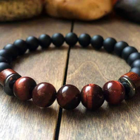 Red Tigers Eye Bracelet - UNLOCK YOUR CHAKRA