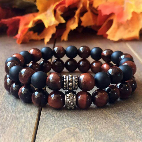 couple bracelets red tigers eye - UNLOCK YOUR CHAKRA
