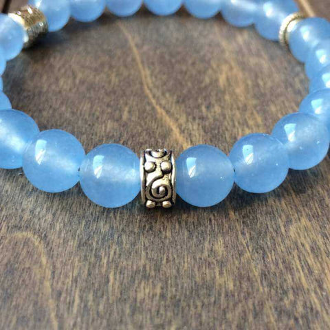 Blue Agate | Healing Crystal Bracelets - UNLOCK YOUR CHAKRA