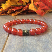 Red Carnelian Crystal Bracelet - UNLOCK YOUR CHAKRA