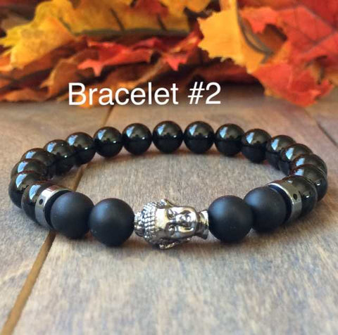 Couple Bracelets | Black Onyx - UNLOCK YOUR CHAKRA