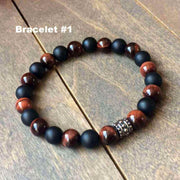 matching red tiger eye bracelets - UNLOCK YOUR CHAKRA