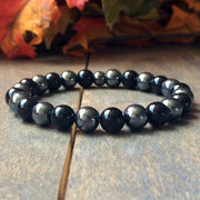 Men's Beaded Bracelets | Onyx & Hematite - UNLOCK YOUR CHAKRA