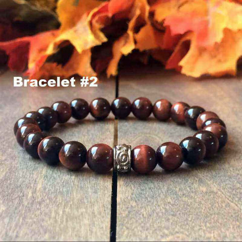 red tiger eye bracelet couples - UNLOCK YOUR CHAKRA