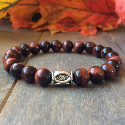 Tiger Eye Stone Bracelet - UNLOCK YOUR CHAKRA