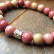 Rhodonite Bracelet - UNLOCK YOUR CHAKRA