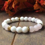 Rose Quartz & Jade Bracelet - UNLOCK YOUR CHAKRA