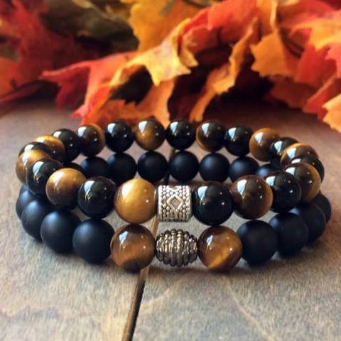 Stack Tigers Eye Bracelet - UNLOCK YOUR CHAKRA