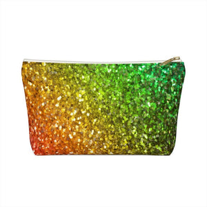 Rainbow Frequency Glitter Cosmetic Bag