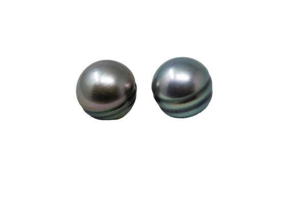 8.6mm Tahitian Pearl Earrings, 14K Gold
