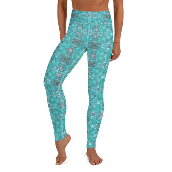 Aquamarine High Waisted Yoga Leggings
