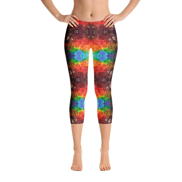 Rainbow Amethyst Crystal Capri Leggings