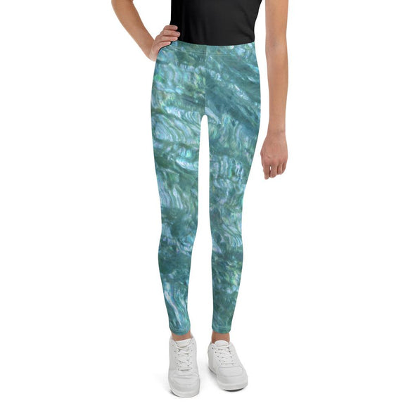 Sea Mist Abalone Youth Leggings